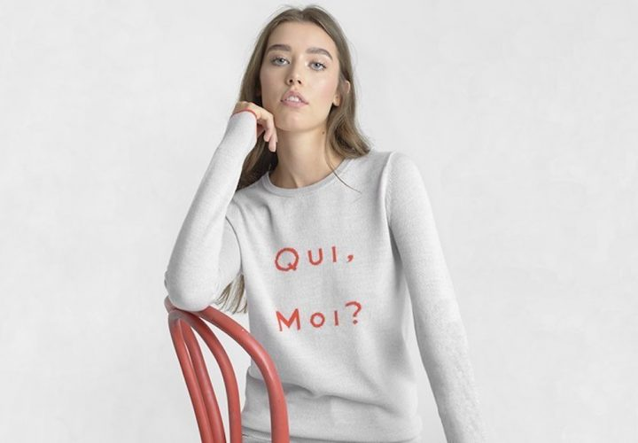 French slogan jumpers