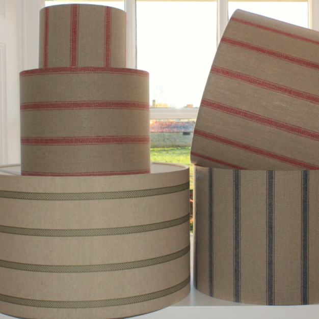 Linen lampshades, Dial House Gallery