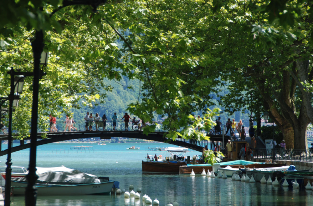 bridge at Lake Annecy