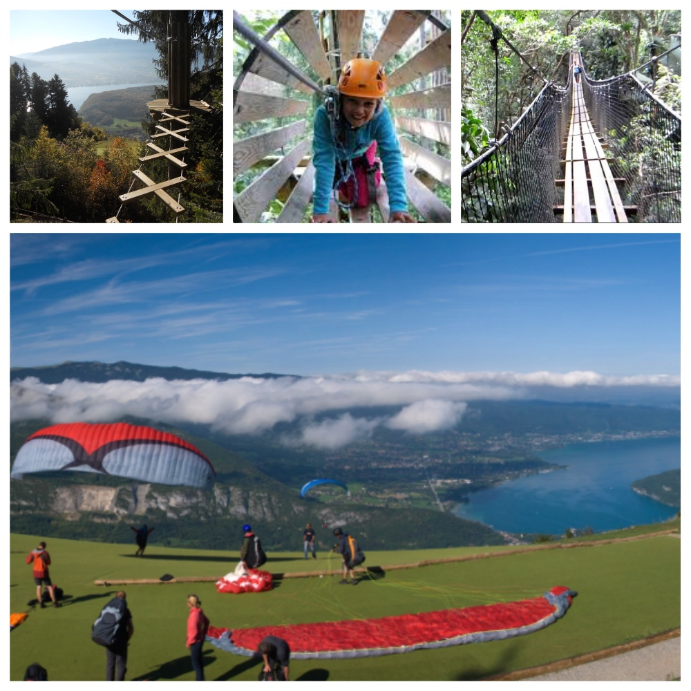 Paragliding and zip wires lake annecy