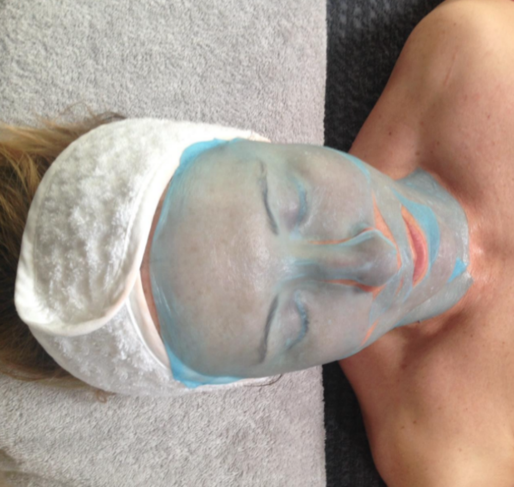 Collagen face mask health close and beauty
