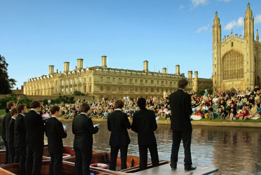 Singing on the river Cambridge