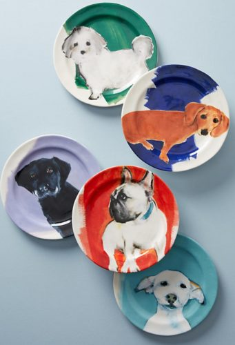 Anthrapologie Dog-a-day plates
