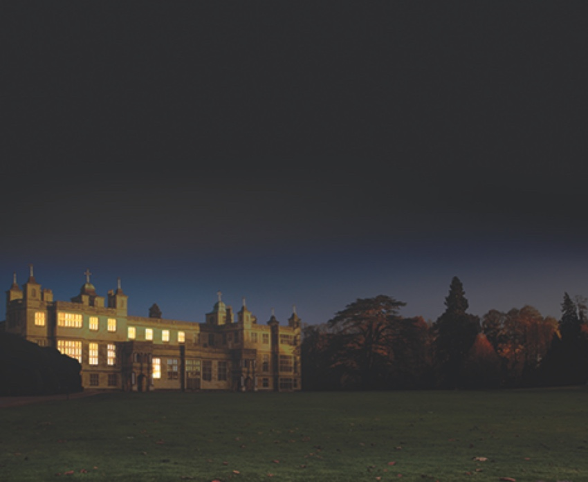 Audley end at night