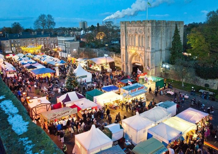 Christmas fair in town