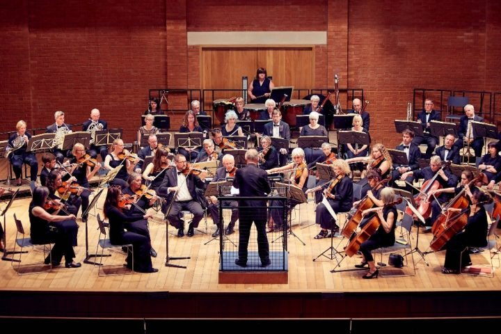 Suffolk sinfonia playing on stage