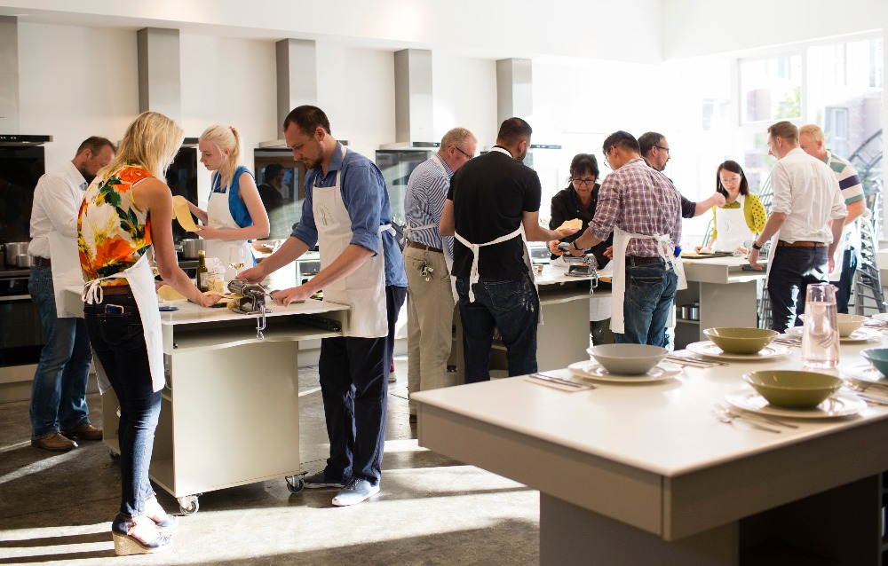 cooking class at Cambridge Cookery
