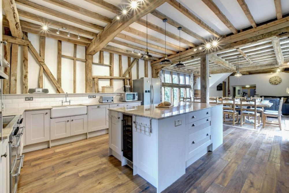 interior of converted barn