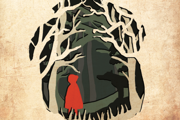 illustration of red riding hood
