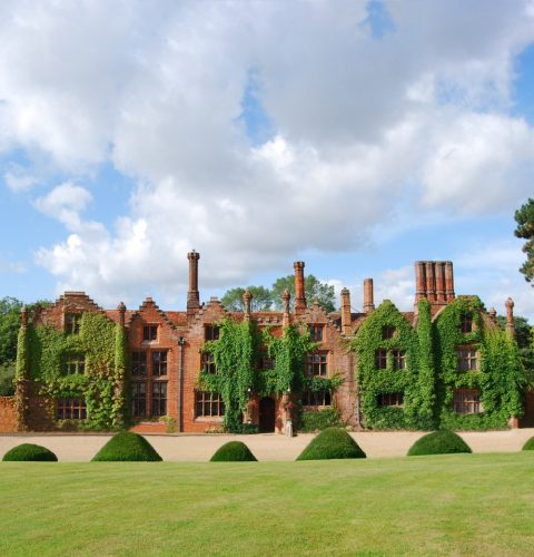 the exterior of seckford hall in Suffolk