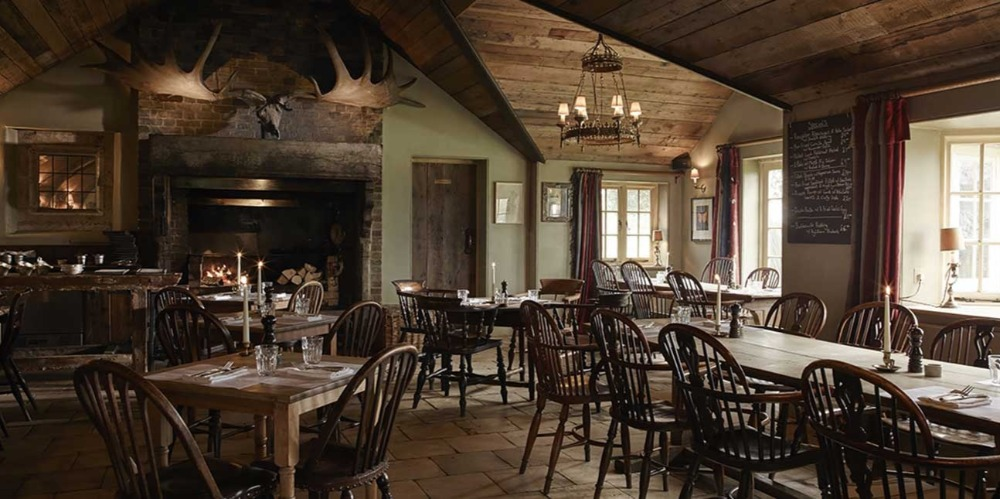 interior of elk room at Gunton Arms