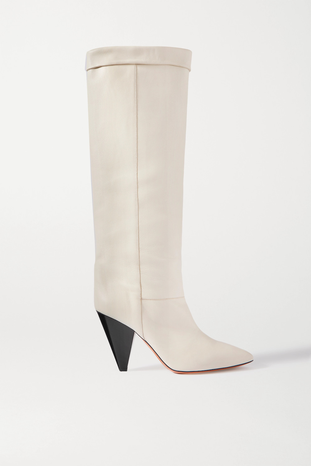 knee high white boots